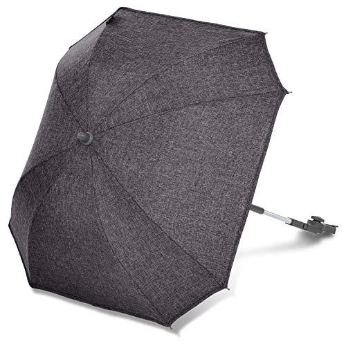 ABC Design Universal Sonnenschirm Sunny – für Kinderwagen und Buggy – UV-Schutz 50+ – Universalhalterung für Rund- und Ovalrohre – Farbe: street