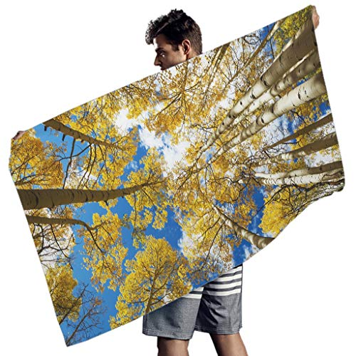 Perstonnoli Toalla de playa de microfibra, ligera, para playa, picnic, playa, yoga, rectangular, 150 x 75 cm, color blanco