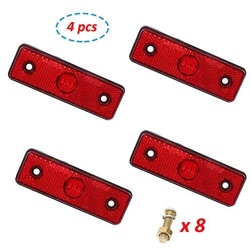 AOHEWEI LED Seitenmarkierungsleuchten 24V Begrenzungsleuchten Rot Lkw Hintere Positionsleuchten Markierungsleuchte Seitenleuchten Indikator Lampe für Anhänger Van Wohnwagen LKW (rot)