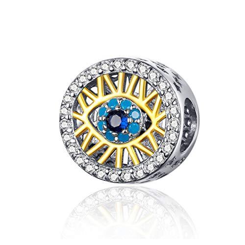 LaMenars - Abalorio de plata de ley 925 para pulseras y collares...