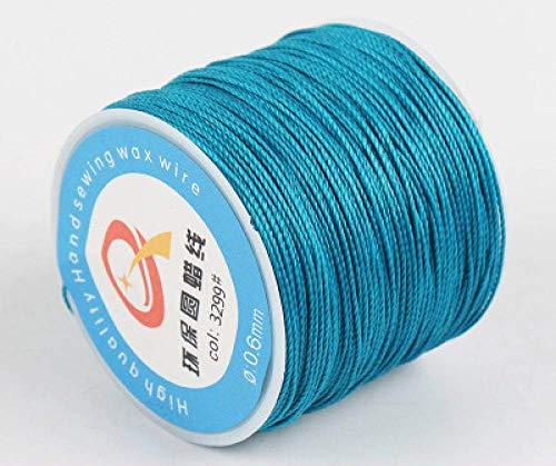 NDBBWG Hilo de Coser 85M Hilo Encerado algodón poliéster Tejido a Mano Cadena Correa Collar Cuerda cordón Costura Artesanal para Cuero Caft Costura, 3299