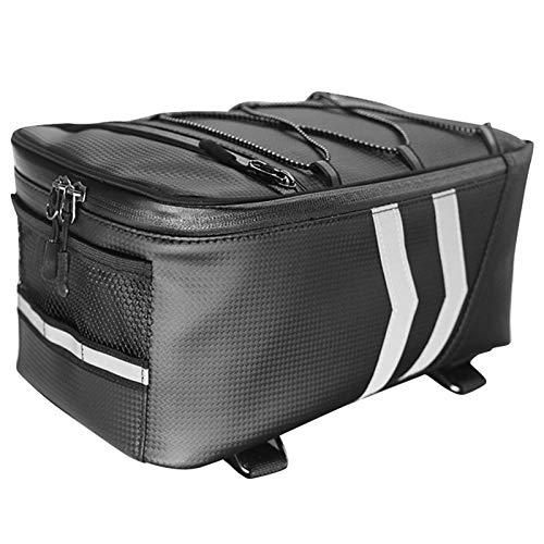 Alforja para bicicleta, bolsa de transporte para bicicleta, impermeable, con correas reflectantes seguras para viajeros, viajes y pícnic (8 L, 9 L)
