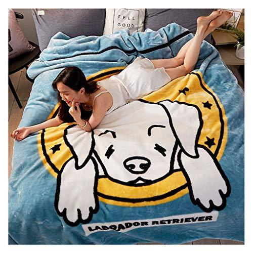 Couverture Double Couche Flanelle Chaude Nap Bureau Automne et l'hiver au Chaud et Confortable Little (Color : Dog)
