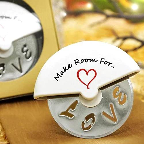 Tableclothsfactory Make Room for Love Pizza Cutter in Cute Favor Box Lot of 25 product image