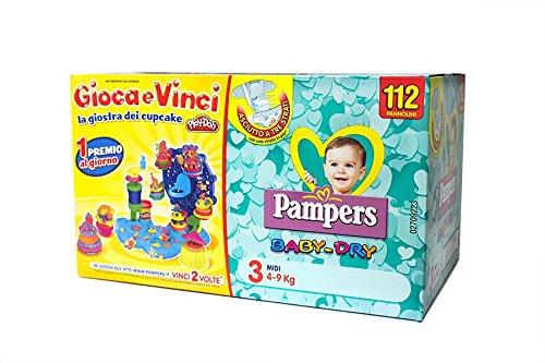 Pampers Pannolini Baby Dry 3 Midi Quadripacco