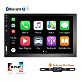 Hikity Double Din Car Stereo 7 Inch HD Touch Screen Radio Bluetooth FM