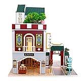 Yunji Juego de casa de muñecas de estilo chino, casa de muñecas de madera en miniatura con accesorios de muebles muebles muebles de casa de madera Set muñecas Baby Room para niños