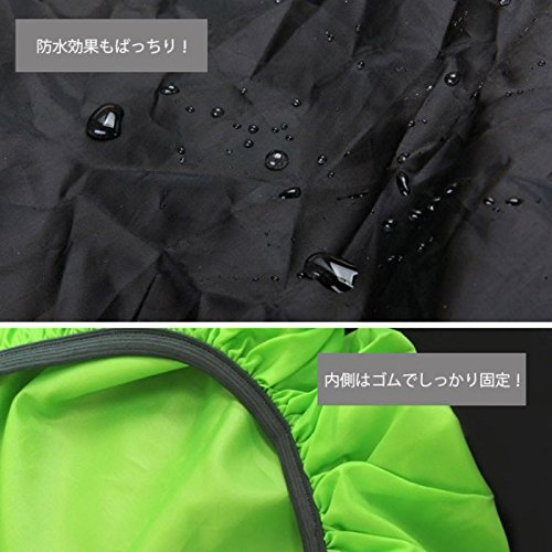 レインカバーリュックリュックサック無地カバー登山雨よけザックカバーリュックカバーアウトドアスポーツ自転車防水レインカバーバックパックリュック軽量コンパクト12色20~35L(ブラック)
