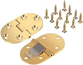 2PCS Solid Brass Butler Tray Hinges 2-1/2