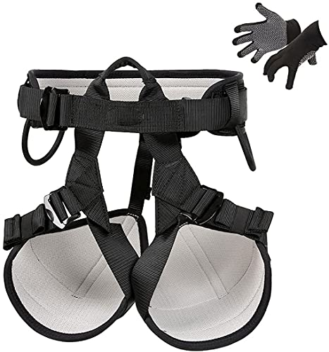 showyow Arnés de Escalada Grueso Proteger la Cintura Arnés de Seguridad Arnés de Medio Cuerpo más Ancho para montañismo Rescate de Incendios Escalada en Roca Rappel Escalada de árboles