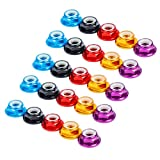 iFlight 25pcs M5 Lock Nuts CW Flanged Nylon Insert Aluminum Alloy Self-Locking Nuts for RC Drone Quadcopter Motor Prop Adapter FPV Parts (Mix Colors)