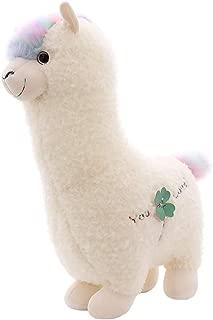 Alpaca Plush Toy Fabric Llama Stitch Stuffed Doll Soft Animal Toys Birthday Gift Toys (White) Different Sizes