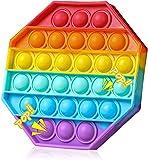 SPRINT GEAR Pop_it Fidget Toy, Popit Jouet de remuement Pack Anti Stress, Jeux Pas Cher, Silicone Pop -it Fidgets Toys pour Le Stress, Objet satisfaisant, poppit Enfant (Octagon)
