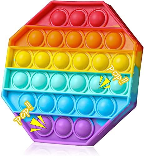 SPRINT GEAR Pop it Fidget Toy, Popit Jouet de remuement Pack Anti Stress, Jeux Pas Cher, Silicone Pop -it Fidgets Toys pour Le Stress, Objet satisfaisant, poppit Enfant (Octagon)