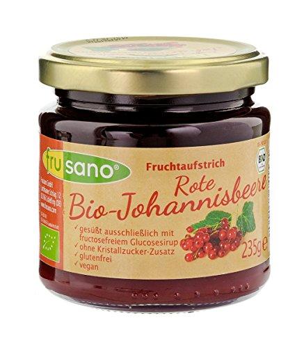Frusano Fruchtaufstrich Rote Johannisbeere, 235 g