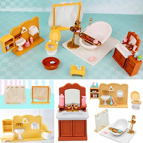 Artículo: miniaturas dormitorio baño muebles accesorios sets Material: plástico Organice el tamaño de las flores: 34X6X22CM (L * W * H) Color: como la imagen Rango de edad: > 4 años de edad