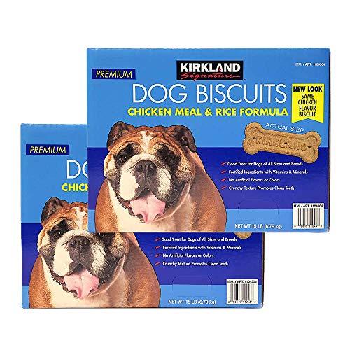 Kirkland Signature Premium Dog Biscuits Chicken Meal & Rice Formula 15 LB