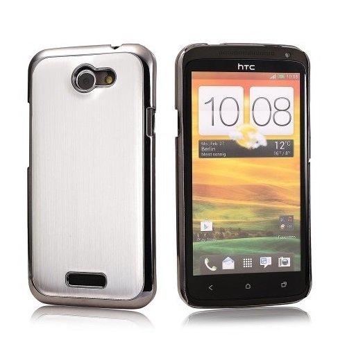 Saxonia - Cover posteriore in alluminio per cellulare HTC One S argento