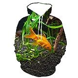 Sudadera con Capucha de Acuario oceánico con Estampado 3D para Hombre, Jersey de Pescado Fresco y Bonito de Moda