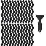ISIYINER Tiras Antideslizantes para Bañera y Ducha 24 Piezas Autoadhesivas Pegatinas de Tira Antideslizante Almohadillas Antideslizantes con Raspador para Baño y Escaleras 18 x 1,3 cm Transparente