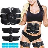 Electrostimulateur Musculaire,Ceinture Abdominale Electrostimulation EMS Stimulateur avec 6 Modes 10 Niveaux pour Hommes Femmes