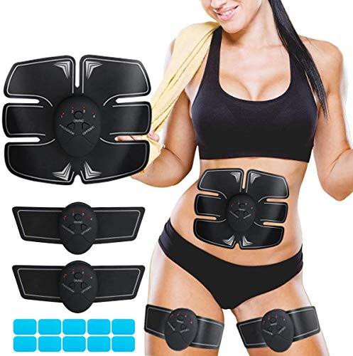 Muskelstimulator EMS Fitness Training Gear Bauchmuskeln Tone Elektronisch Bauch Muskeln Stimulator Muskelstimulation Muskelstimulator Gym Home Workout Maschine USB Wiederaufladbar