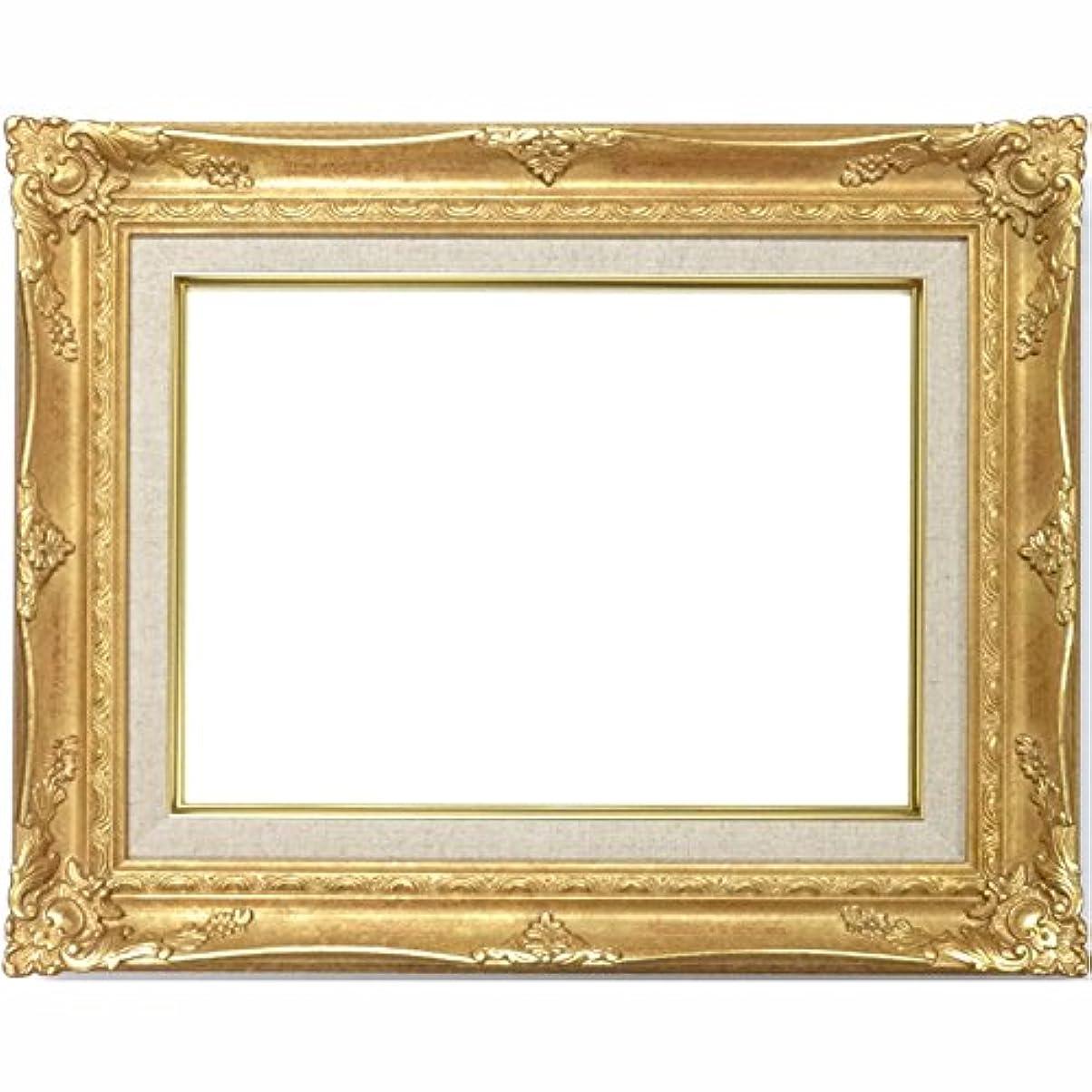 ワイヤー打倒泥棒大額 油彩用額縁 9232N アクリル仕様 壁用フック付 (サムホール, ゴールド)