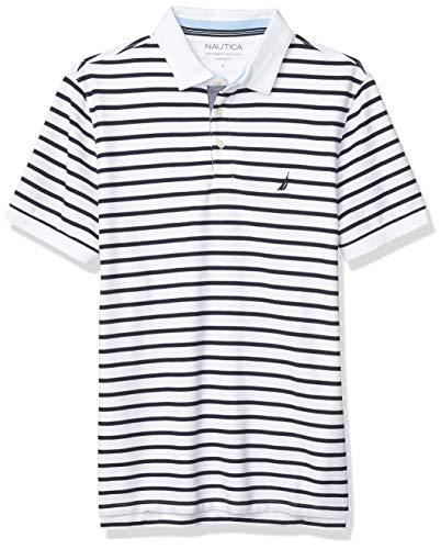 Nautica Men's Classic Fit Performance Stripe Polo Camisa Hombre