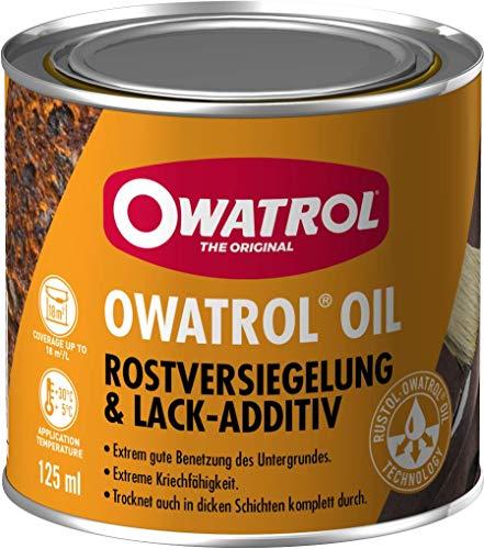 OWATROL – OIL – 0,125 L – Farbloser Rostschutz – dringt ein und stoppt Rost, Schutz für Oberflächen aus Metall Kunststoff Glas Holz – Haftgrund und Grundierung – Korrosionsschutz für viele Oberflächen