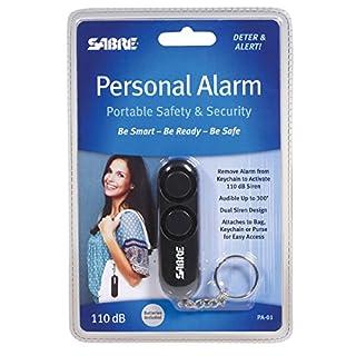 شراء SABRE Personal Self-Defense Safety Alarm on Key Ring with LOUD Dual Alarm Siren Heard up to 600 ft/185 meters Away. To Use, Pull Metal Chain from Base