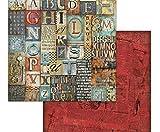 Doble cara de un Álbum de recortes de Papel Steampunk Y Artículos En Periódicos, Stamperia, 30 x 30 Vintage, Papeles, Hojas, Impresión, Scrapbooking