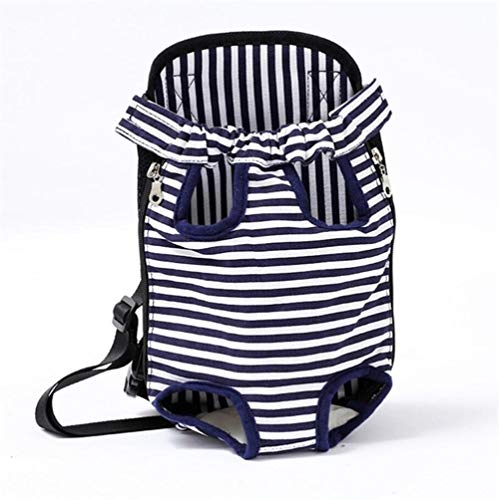 LNLW Verstelbare Pet Carrier Rugzak Pet Frontpack Carrier Travel Bag benen uit Easy-Fit for reizen wandelen Camping (Color : Zebra, Size : S)