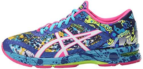 ASICS Women's Gel-Noosa Tri 11 Running Shoe, Asics Blue/White/Hot Pink, 9 M US 4