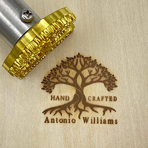 Custom Electric Branding Iron, Customize Wood Stamp Gift for Woodworker and Leather Craft Food Branding Iron 200w (2'x2')