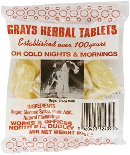 Grays Herbal Tablets - Each 60g Bags (3 x 60g Bags)
