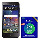 TracFone ZTE ZFIVE C 4G LTE Prepaid Smartphone with Amazon Exclusive $40 Airtime Bundle