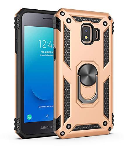 Kompatibel Samsung Galaxy J2 Pro 2018 Hülle Handyhülle Samsung J2 Core Handy Hülle,Drehbar Ringhalter Magnetische Hüllen Dual Layer Hybrid Schutzhülle für Samsung Galaxy J260 Case Schutz