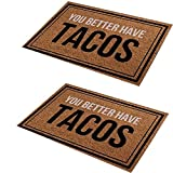 OUKEYI 2 piecesFront Door Mat Welcome Mat, Non-Slip Welcome Entrance Way Rug, Have Washable Slip Backing Funny Doormat Indoor Outdoor Rug 23.6' X 15.7'