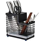 Bloque de cuchillos de encimera 304 cuchillo de acero inoxidable titular multifuncional cuchillo palillos de almacenamiento en rack de cocina Bloque Sistemas del cuchillo de almacenamiento en rack Por