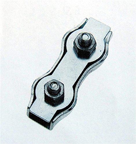 Leguana Handels GmbH 4 Stück Duplex Drahtseilklemme Seilverbinder Seil Ø 1-3 mm, verzinkter Stahl