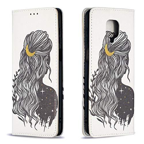 Miagon Brieftasche Hülle für Xiaomi Redmi Note 9 Pro,Kreativ Gemalt Handytasche Case PU Leder Geldbörse mit Kartenfach Wallet Cover Klapphülle,Mädchen