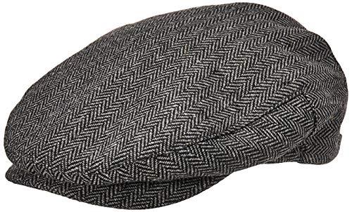Brixton Men's Hooligan Driver Snap Hat, Grey/black herringbone, Large