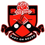 Baby On Board Sticker Democratic Aesthetic Socialists Vinyl Colorful Waterproof Decal for Bumper in Car Truck Vehicle Window