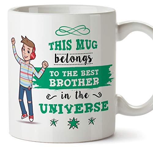 Mugffins (Tasse auf Englisch) Brother Original Becher Tasse Becher gehört zum besten Bruder im Universum - 11 Unzen Keramik