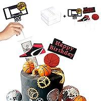 ケーキマネーボックス バスケットボールシーンテーマ ケーキトッパーセット 誕生日パーティーの装飾用