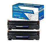 Fimpex Compatible Toner Cartucho Reemplazo para HP Laserjet M1120 MFP, M1120n MFP, M1522n MFP, M1522nf MFP, P1505, P1505n CB436A (Negro, 2-Pack)