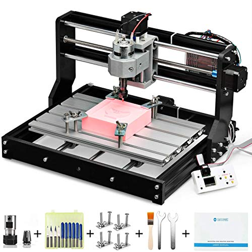 Genmitsu CNC 3018-PRO Router Kit GRBL Control 3 Axis Plastic Acrylic PCB PVC Wood Carving Milling Engraving Machine with Offline...