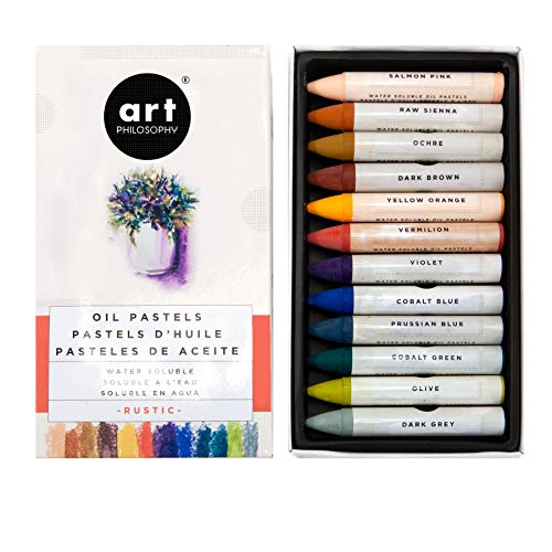 Prima Marketing Prima Art Philosophy Water Soluble Oil Pastels 12/Pkg-Rustic