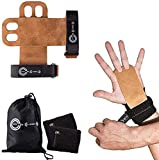 KFY Sports Leather Gymnastics Hand Grips – for Crossfit Workout Training Chin ups Pull-ups WODs...