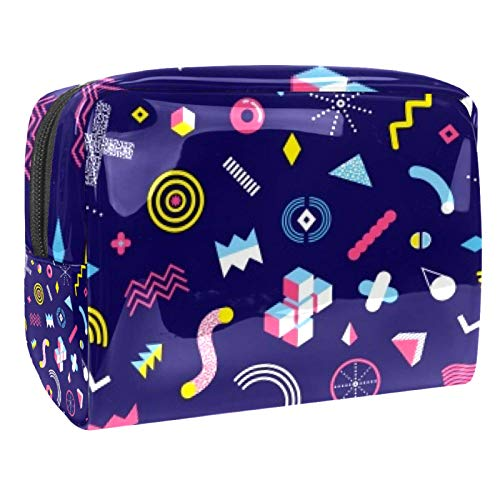 Portable Makeup Bag with Zipper Travel Toiletry Bag for Women Handy Storage Cosmetic Pouch CD Wheel
